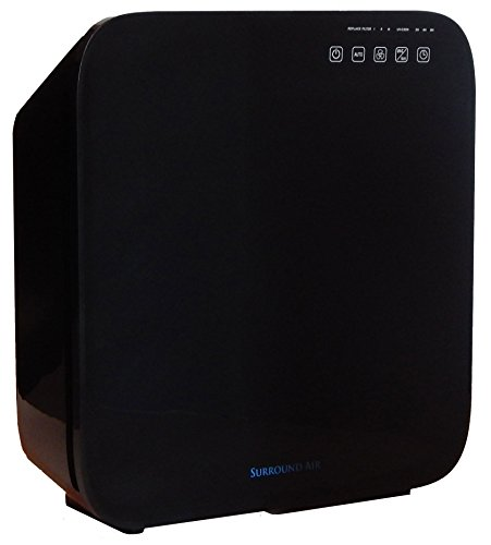 Surround Air MT-8500 6-in-1 Ionic Air Purifier with True HEPA, Germ-Killing UV Light and Negative Ion Generator (Ion Air Purifier Amazon compare prices)