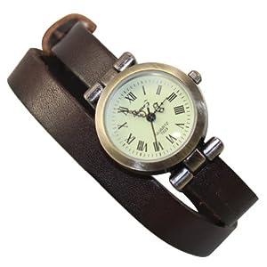 Generic Fashion Retro Weave Wrap Around Leather Bracelet Woman Ladies Quartz Wrist Watch