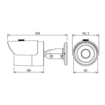 Dahua HAC-HFW1100S 1 Megapixel 720P HDCVI Bullet Security Camera Surveillance Outdoor Water-proof 3.6mm Fixed Lens Cost-effective Mini IR HD-CVI 1MP