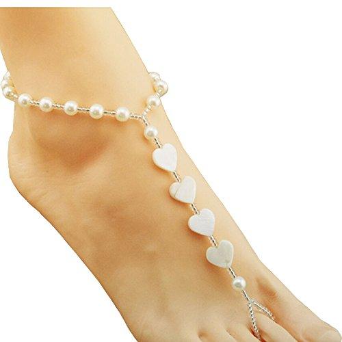 damen-fusskette-armband-pearl-bead-foot-kette-footless-beach-jewelry