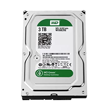 WD 内蔵HDD Green 3TB 3.5inch SATA3.0(SATA 6 Gb/s) 64MB Intellipower 2年保証 WD30EZRX-1TBP