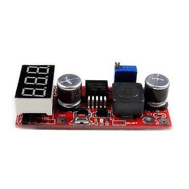 Zcl Dc 4.5~28V To 1.3~25V Lm2596 Step Down Converter W/ Red Led / Panel Voltmeter - Red