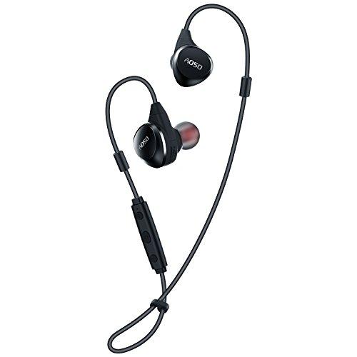 AOSO M16 Cuffie Bluetooth V4.1 con archetto regolabile, auricolare senza fili a...