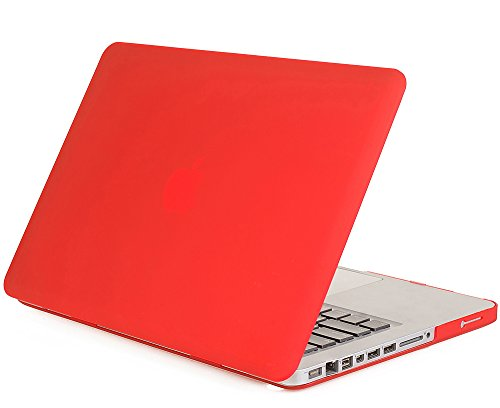 "Mosiso - Red 15-Inch Rubberized Hard Case Cover For Macbook Pro 15.4"" (Model A1286) Aluminum Unibody With Cd-Rom Drive (Red)"
