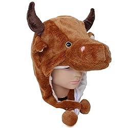 LightYear Fun Plush Animal Bull Cow Boy Baby Girl Costume Cosplay Winter Hat Cap