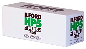Ilford 1629017 HP-5 Plus 400 Fast Black and White Professional Film, ISO 400, 120 Size