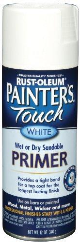 Rust-Oleum 249058 Painter's Touch Multi-Purpose Spray Paint, White Primer, 12-Ounce