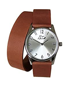 Amazon.com: Sergio Montell Women's Brown Leather Wrap Strap Watch