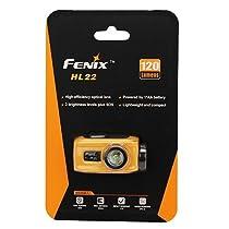 Fenix Flashlights HL22 120-Lumen Headlamp, Yellow
