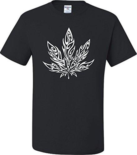 Small-Black-Adult-Giant-Psychedelic-Pot-Leaf-Marijuana-420-T-Shirt
