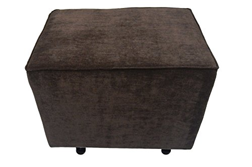 Lifestyle Home Furnishings Comfy Cozy Ottoman, Chocolate Vanity