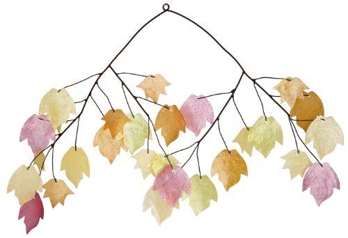 Asli Arts 14-Inch Autumn Leaves Capiz Chime