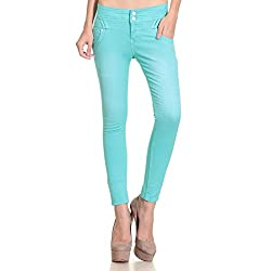 7SEE Ankle length Colored Denim Jeans for Women