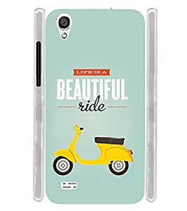 Life is Beatuiful Scooter Typographic Soft Silicon Rubberized Back Case Cover for Vivo Y11