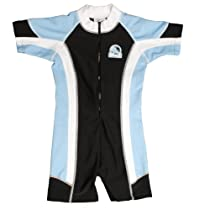 Baby Banz Boys Chlorine Resistant One Piece Sunsuit, Blue/Black, 3 Months