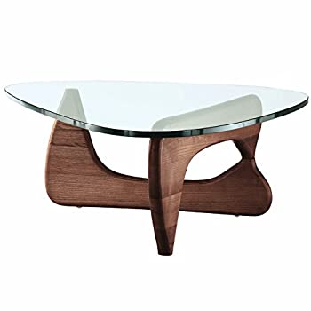EMODERN FURNITURE eMod - Noguchi Style Coffee Table Reproduction Replica Mid Walnut