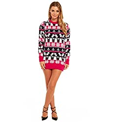 More Designs! Knitted Ladies Christmas Dress Womens Sweater Ugly/Funny Tunic Top by You Look Ugly TodayFairisle-Large