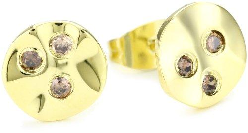 gorjana Chloe Gold Shimmer Stud Earrings