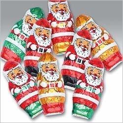 Christmas Mini Santa's Solid Milk Chocolate (1 Lb - 55 Pcs)