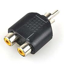Neewer® RCA AV Audio Y Splitter 1 Male to 2 Female Plug Adapter