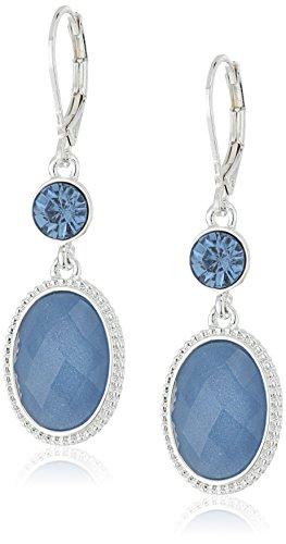 nine-west-double-ovale-boucles-doreilles-percees-argent-et-bleu