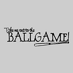 Amazon com take me out to the ballgame baseball wall quote words