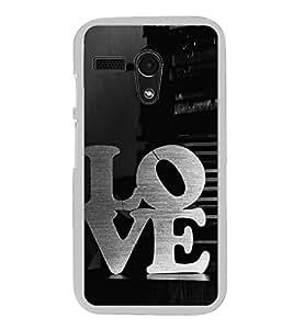 Love 2D Hard Polycarbonate Designer Back Case Cover for Motorola Moto G :: Motorola Moto G (1St Gen)