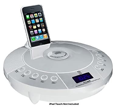 Pyle Home PICL48W iPhone and iPod FM Radio Receiver with CD Player and Alarm Clock (Discontinued by Manufacturer)