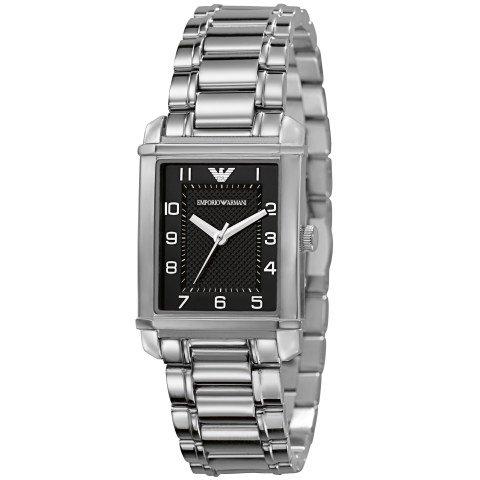 Emporio Armani AR0494 - Reloj para mujeres, correa de acero inoxidable color plateado