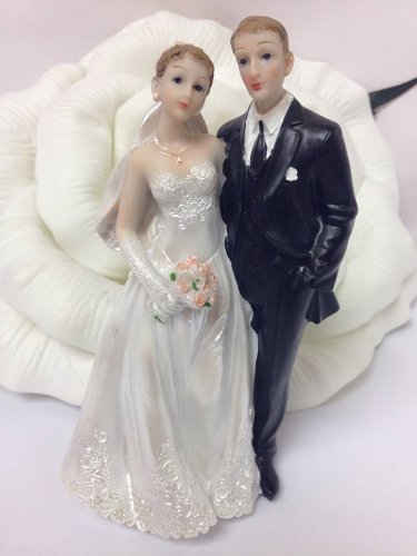 "6"" Inch Bride & Groom Wedding Cake Topper Centerpiece Party Decoration Keepsake front-1079412"
