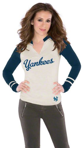 New York Yankees Women's Sport Envy Top - by Alyssa Milano at Amazon.com