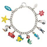 Little Mermaid Ariel Flounder Disney Chunky Charm Bracelet