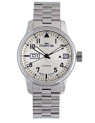 Fortis Men's 700.20.92 M F-43 Flieger Beige Dial Automatic Date Stainless-Steel Watch