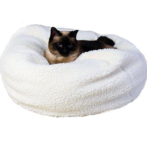 Sherpa Puff Ball Pet Bed