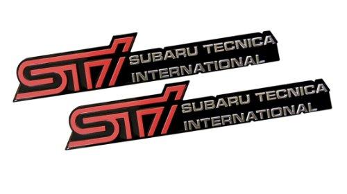 2 x (Pair / Set) STi Subaru Technica International Aluminum Engine Hood Emblem Badge Nameplate for Subaru Forester II Type M tS Outback Impreza WRX STi 22B S201 S202 S203 S204 R205 S206 Legacy GT RS RA RA-R S401 S402 R14 RB5 EXIGA 2.0GT (Subaru Impreza Type Ra compare prices)