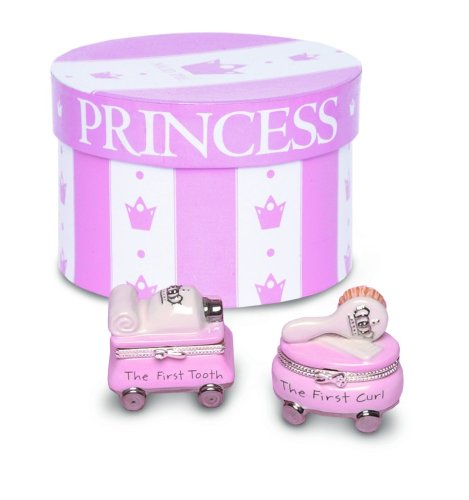 Mud Pie Baby Princess First Tooth and Curl Treasure Box Set