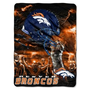 Denver Broncos 60x80 Royal Plush Raschel Throw Blanket - Sky Helmet Style by Unknown