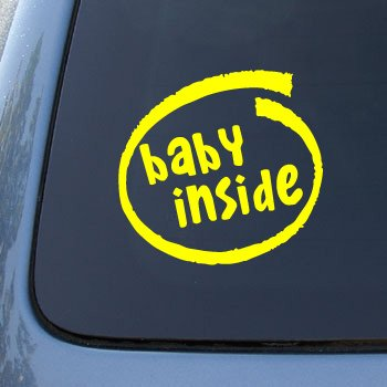 BABY INSIDE - On Board - Vinyl Car Decal Sticker #1781 | Vinyl Color: Yellow