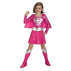 Rubies Costume Pink Supergirl Child's Costume, Small
