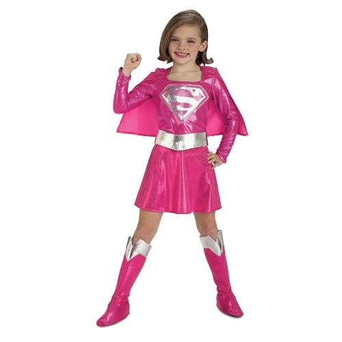 Pink Supergirl Childs Costume Small