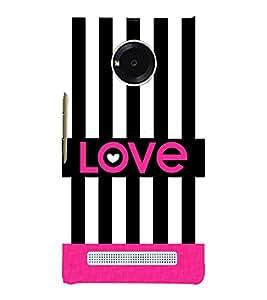 Love Black Lines 3D Hard Polycarbonate Designer Back Case Cover for YU Yunique