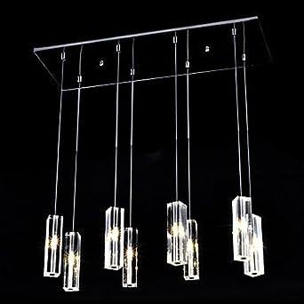 Luminaire suspendu 160w avec 8 projecteurs cristaux for Gros luminaire suspendu