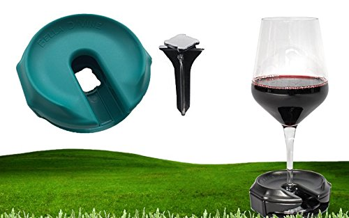 Best Price! Bella D'Vine – Portable wine glass holder – For picnics, camping and outside concerts – Wine Gift (Marine Blue)