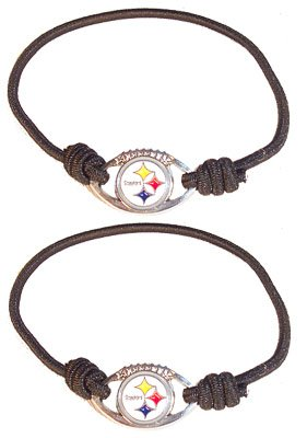 NFL Pittsburgh Steelers Stretch Bracelet/Hair Tie Set at SteelerMania