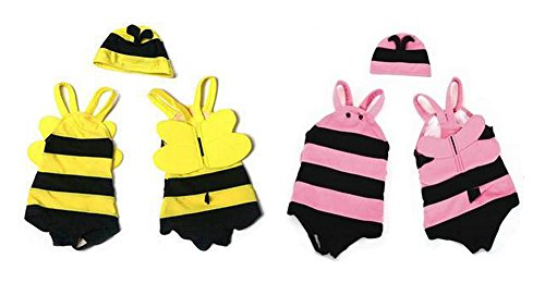 Baby Kids Bumble Bee Beach Swimsuit and Hat 2-piece Swimwear