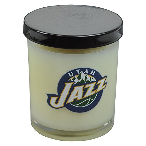 NBA Utah Jazz Scented 3 Inch Glass Candle Basketball Gift Decorator Home Office