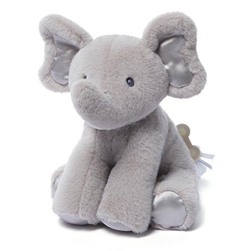 "Gund Baby Bubbles Elephant Keywind Musical Plush, Gray, 8.5"""