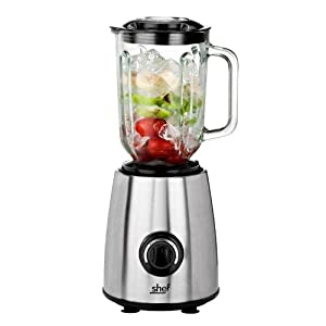 Shef Professional High Quality 1.5 Litre Jug Blender & Grinder - 600 Watt with Pulse Function - Ergonomic & Stylish Design by Shef