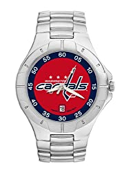 Washington Capitals Mens Pro Ii Sterling Silver Bracelet Watch