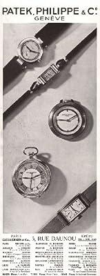 1936 Ad Print Patek, Philippe & Co Pocket Wrist Bracelet Watches - Original Magazine Ad